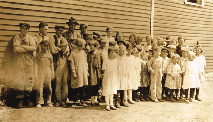 Students of Pauline School around 1916 are all smiles. They encompassed a span of ages. Photo is from the collection of Sarah Goding Post, courtesy of Kathy Post Seeman.