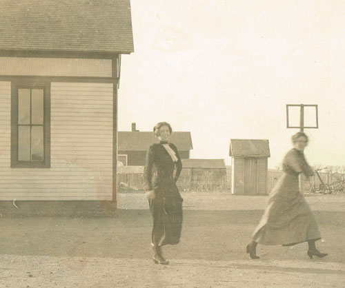 Two unidentified women, presumably teachers, reflect the optimism that was evident for Pauline School in the early part of the last century. Photo is from the Sarah Goding Post collection, courtesy of Kathy Post Seeman.
