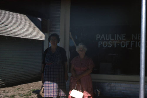 Pauline residents Lizzie Post and Margaret Smidt are pictured in front of the store.