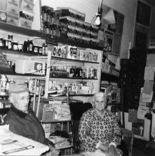 John H. Post and Margaret Smidt await mail delivery.
