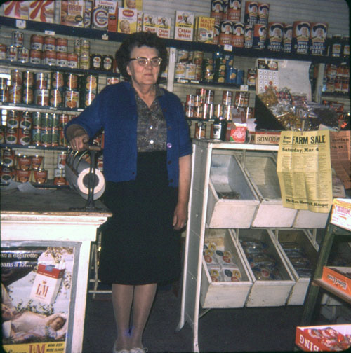 Longtime store owner Lizzie Evans.
