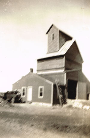 This undated photo of Pauline's east elevator is provided courtesy of Doris Evans Alexander.