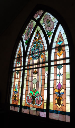 This window was purchased by the Epworth League when the church was erected in 1907.