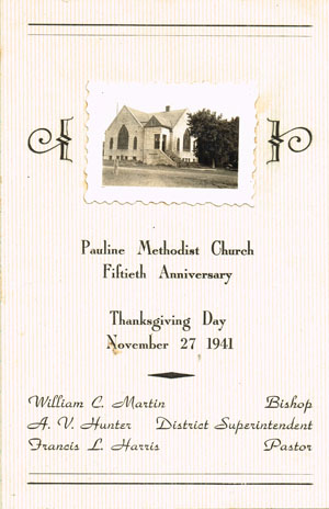 Program is courtesy of Pauline Methodist Church.