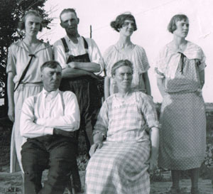 Lizzie is pictured with her parents and siblings. From left to right are Lizzie, Roy, Mattie and Sarah Anderson. Seated in front are parents Edd and Kate Heeren Anderson. Courtesy of Marlyce Brown.