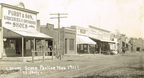 Pauline's main street (Kingston Avenue) as it appeared in 1911.
