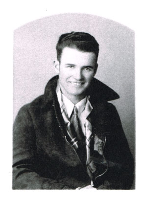Glen Parker as a young man. Photo is courtesy of Mr. Parker's niece, the late Louise Kelso Schwartz.